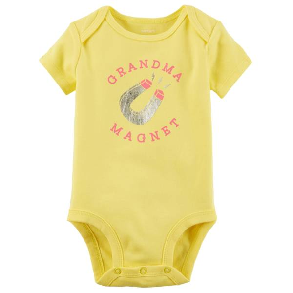 Infant Girl's Yellow Short-Sleeve Collectible Bodysuit