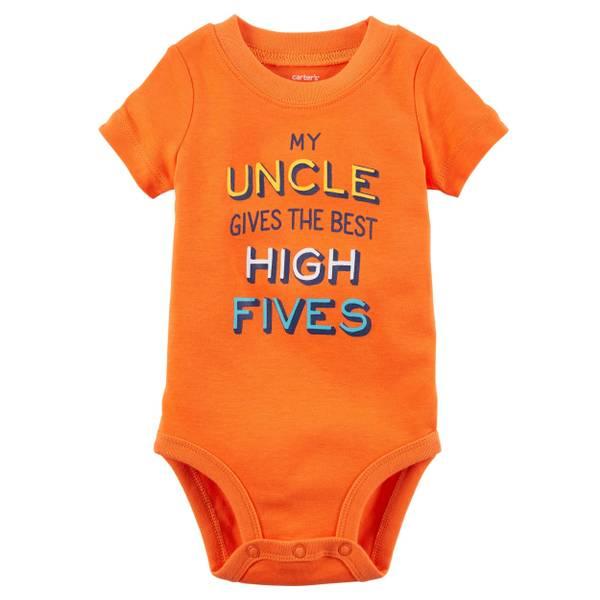 Baby Boy's Orange Short Sleeve Collectible Bodysuit
