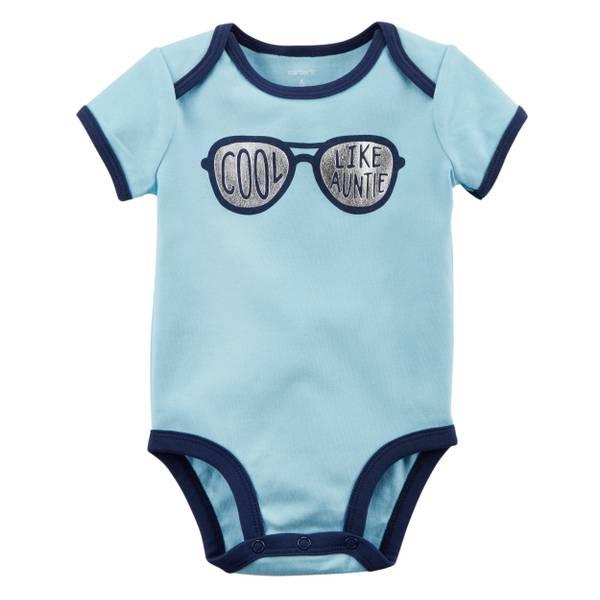 Little Boys' Short Sleeve Slogan CooLight Blue