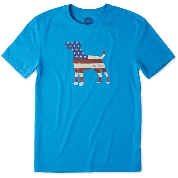 Men's Blue Short Sleeve Americana Dog Tee Shirt