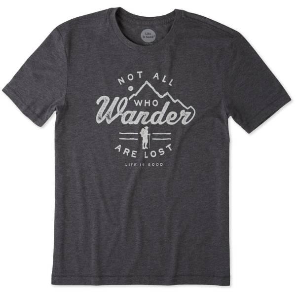 Men's Black Short Sleeve Wander Hike Tee Shirt