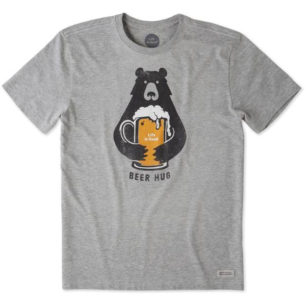 Men's Grey Short Sleeve Beer Hug Tee Shirt