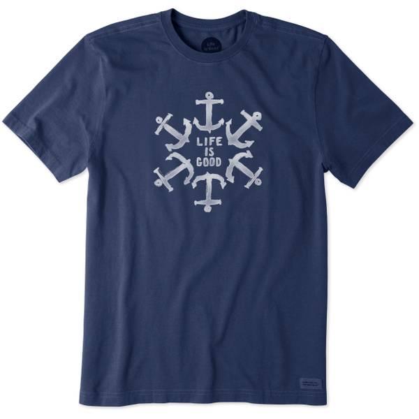 Men's Navy Blue Short Sleeve Nautical Star T-Shirt