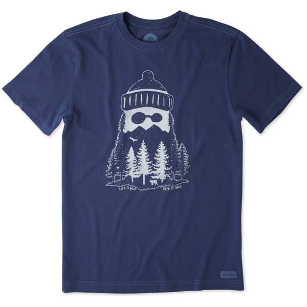 Men's Navy Blue Short Sleeve Mountain Jake T-Shirt