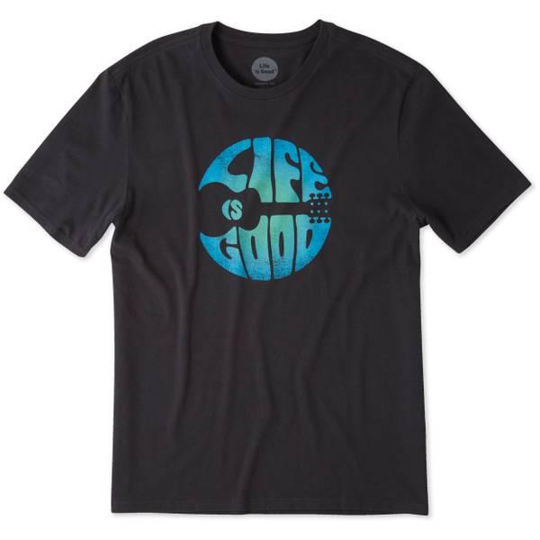 Men's Black Short Sleeve Groovy Guitar T-Shirt