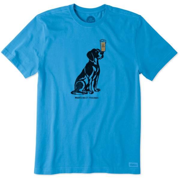 Men's Blue Short Sleeve Man's Best Friend T-Shirt