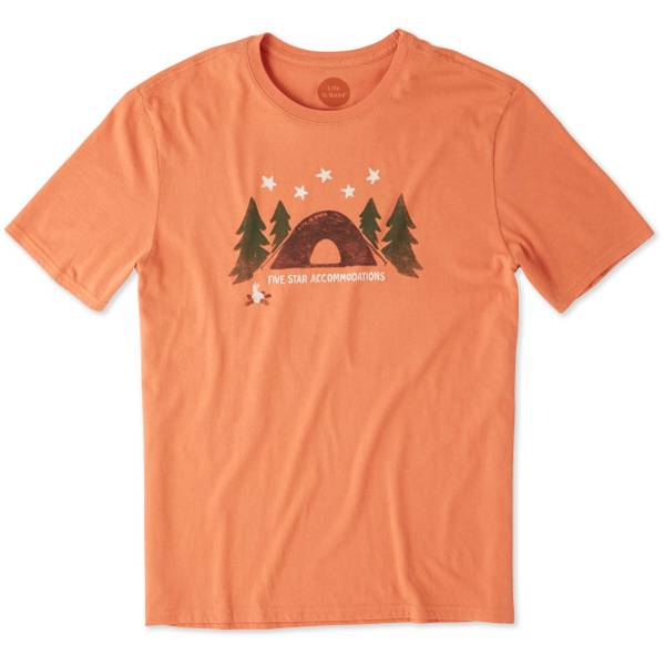 Men's Orange Short Sleeve Five Star Accommodations T-Shirt