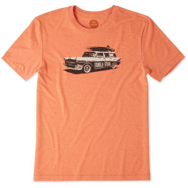 Men's Orange Short Sleeve Family Style Tee Shirt