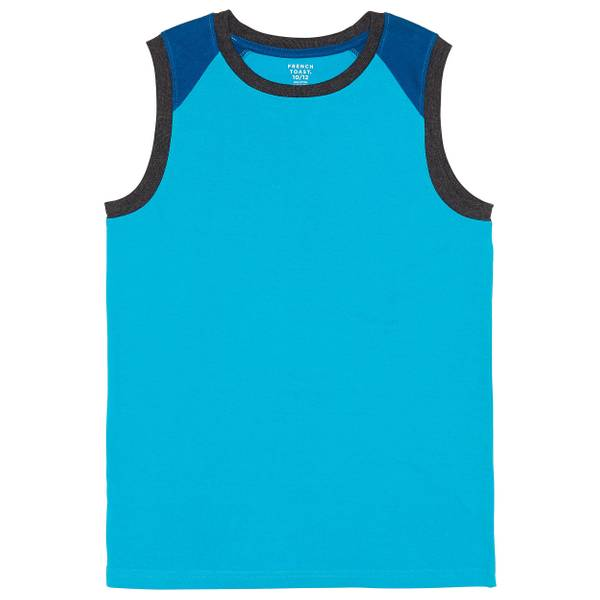 Toddler Boys' Turquoise Colorblock Muscle Tee Shirt