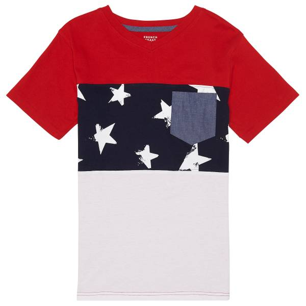 Little Boys' Ruby Short Sleeve Flag Tee Shirt