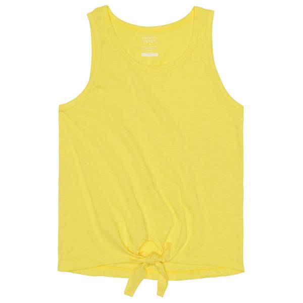 Girls' Yellow Tie-Front Tank Top