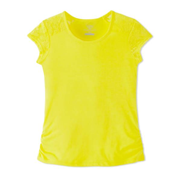 Girls' Lace Shoulder Tee
