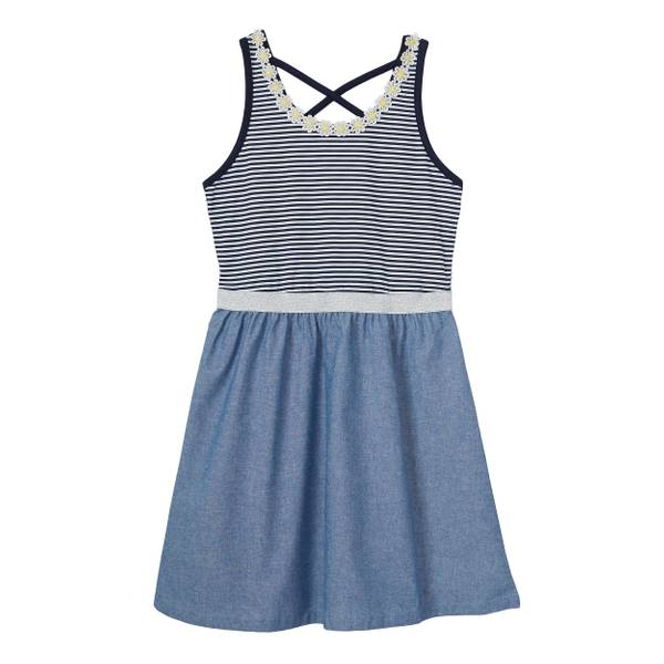 Little Girls' Knit To Chambray Dress