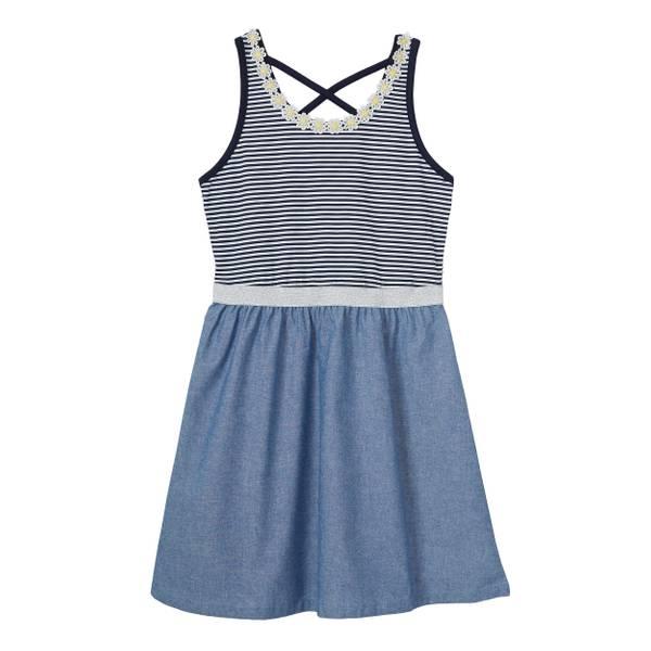 Little Girls' Knit To Chambray Dress