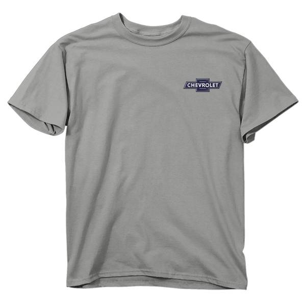 Men's Silver Short Sleeve Chevy Proud American T-Shirt