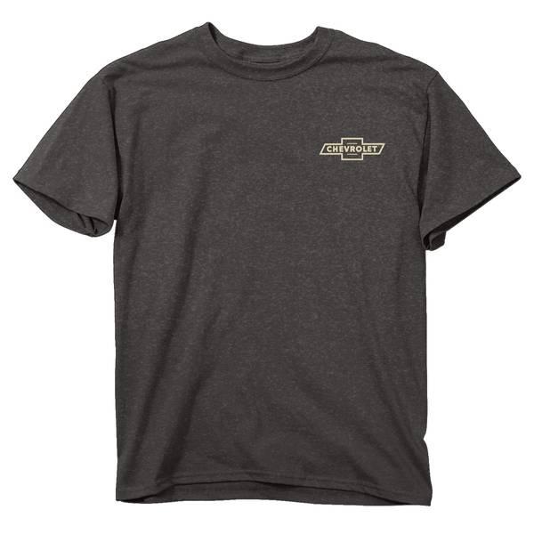 Men's Charcoal Gray Short Sleeve Chevy Steer Skull T-Shirt