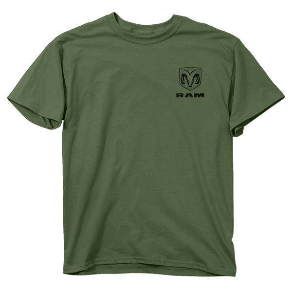 Men's Military Green Short Sleeve RAM Camouflage T-Shirt