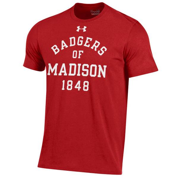 Men's Short Sleeve Wisconsin Badgers
