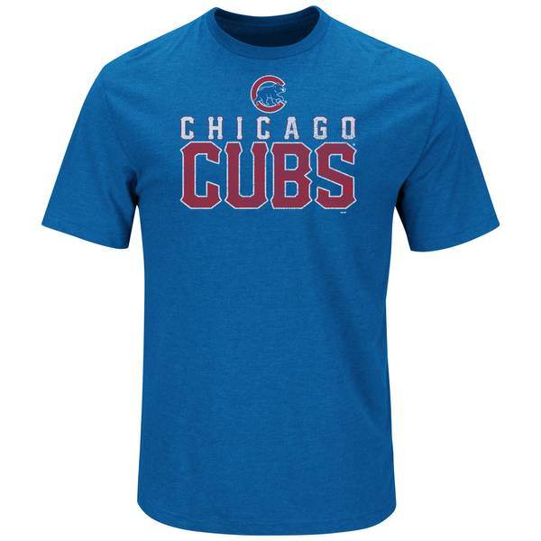 Men's Blue Heather Short Sleeve Chicago Cubs Honors T-Shirt
