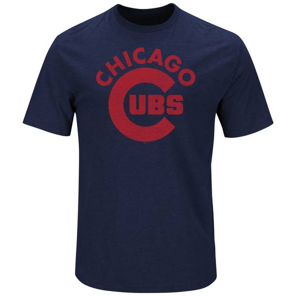 Men's Athletic Navy Blue Short Sleeve Chicago Cubs Defend Honor T-Shirt