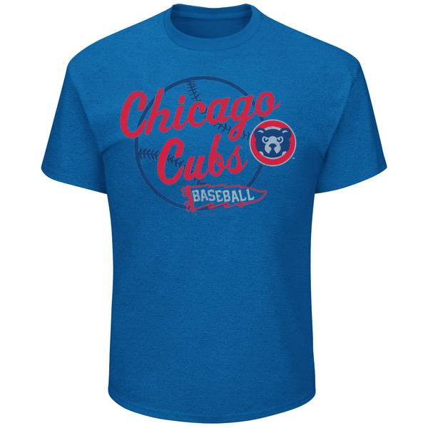 Men's Deep Royal Blue Chicago Cubs Cap To Win T-Shirt