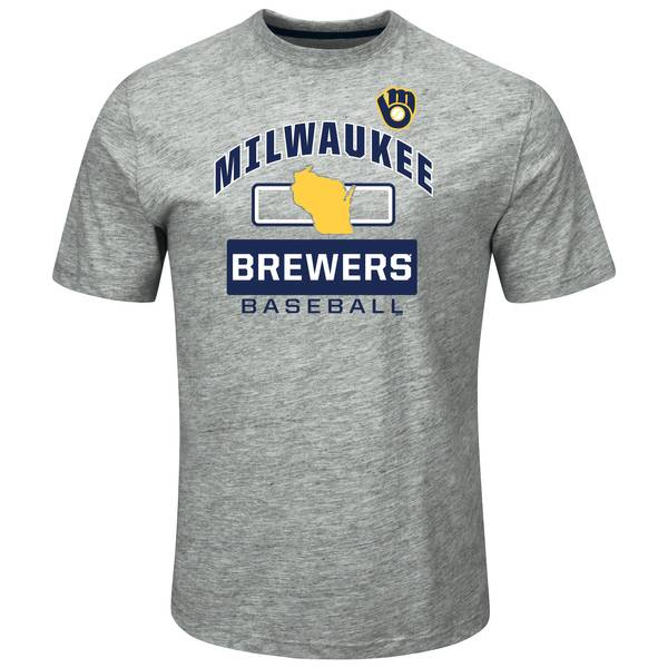 Men's Grey Milwaukee Brewers Endurance Factor Tee