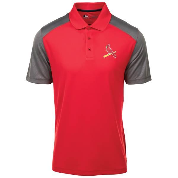 Men's St. Louis Cardinals Cunning Short Sleeve Polo Shirt