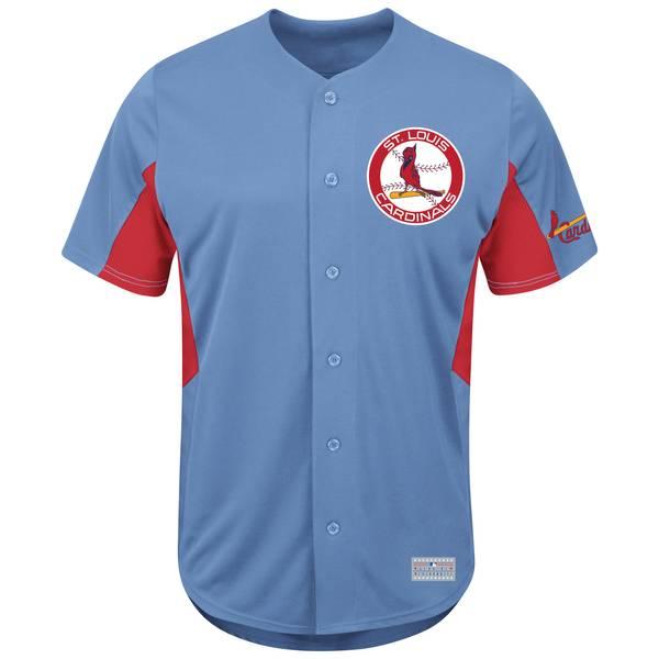Men's Blue & Red St. Louis Cardinals Ozzie Smith #1 Jersey