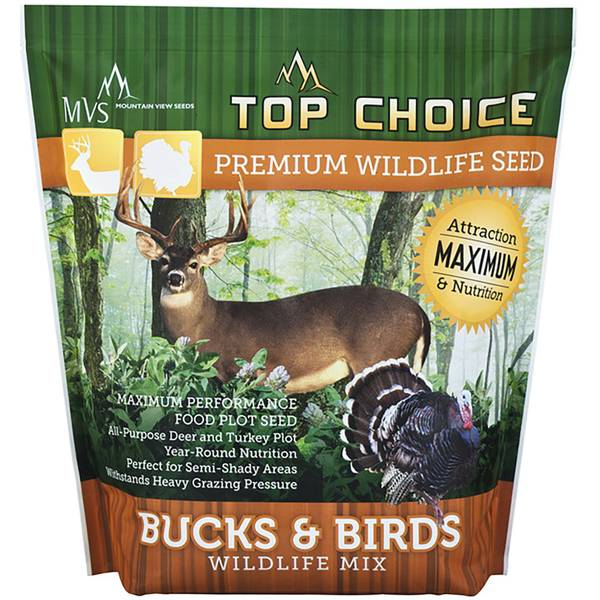 Mountain View Seeds 8 lb Bucks and Birds Wildlife Mix Food Plot Seed