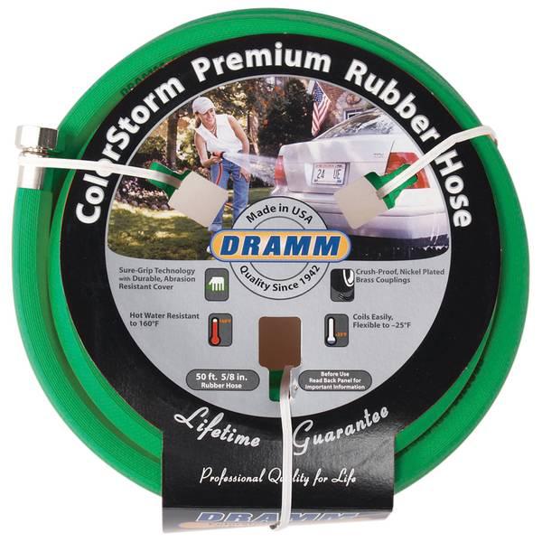 50' Green Color Storm Premium Rubber Hose
