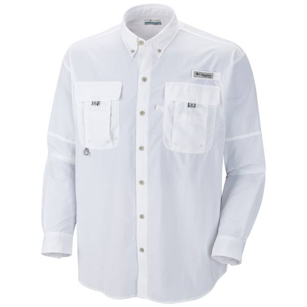 XL Bahama II L/S Shirt Solid White