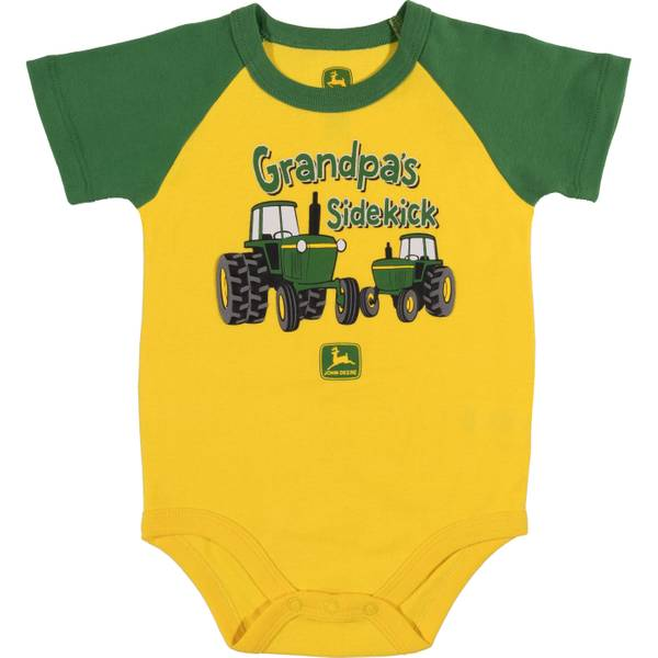 Boys' Yellow Short Sleeve Grandpa's Sidekick Bodysuit