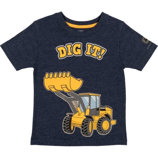 Boys' Navy Heather Short Sleeve Dig It Tee Shirt