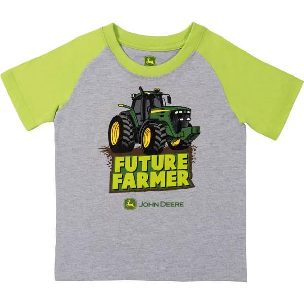 Boys' Grey & Lime Short Sleeve Future Farmer Tee Shirt