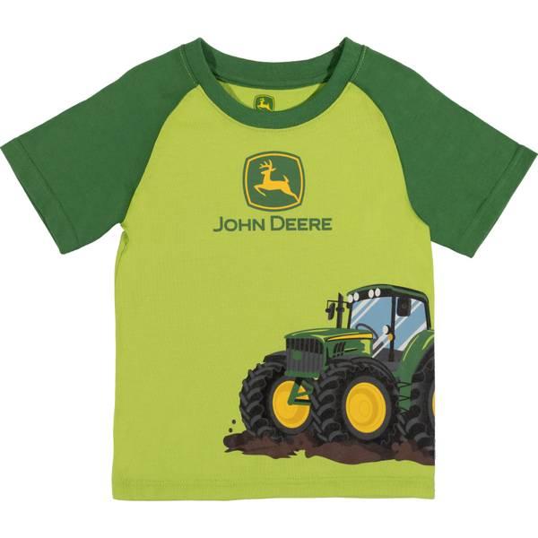 Boy's Green Short Sleeve Tractor Tee Shirt
