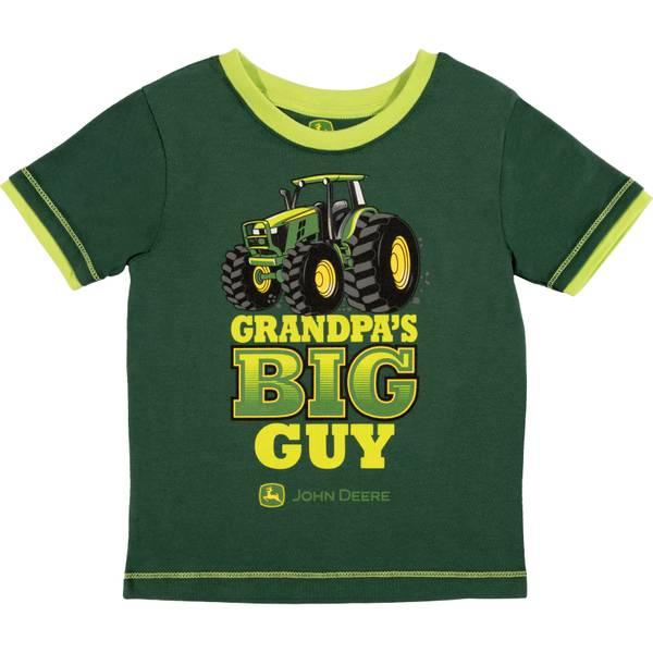 Boys' Dark Green Short Sleeve Grandpa's Big Guy Tee Shirt