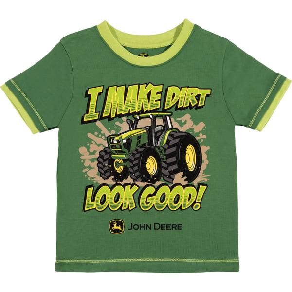 Boys' Green Short Sleeve I Make Dirt Look Good Tee Shirt