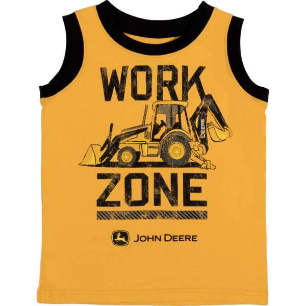 Boys' Yellow & Black Work Zone Muscle Tee Shirt