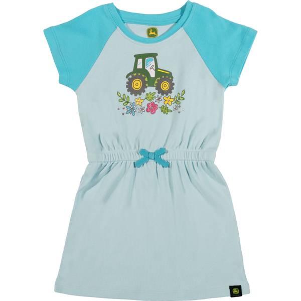 Girls' Seafoam & Turquoise Short Sleeve Laurel Dress