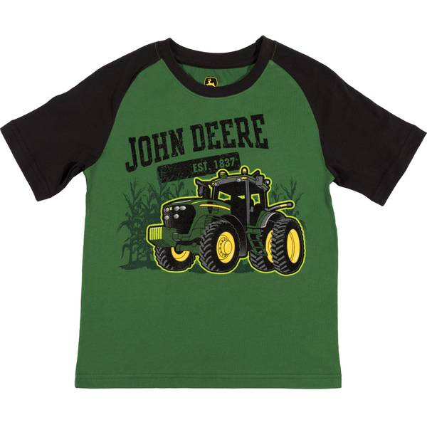 Little Boys' Green Short Sleeve Established Tee Shirt