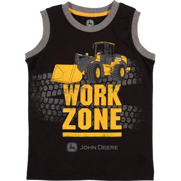 Little Boys' Black Short Sleeve Work Zone Muscle Tee Shirt
