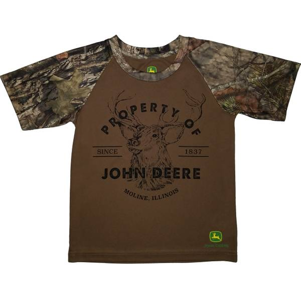 Little Boys' Mossy Oak Camouflage Short Sleeve Property Of Tee Shirt