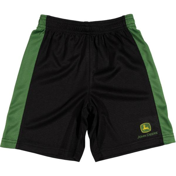 Boys' Green & Black Athletic Mesh Shorts