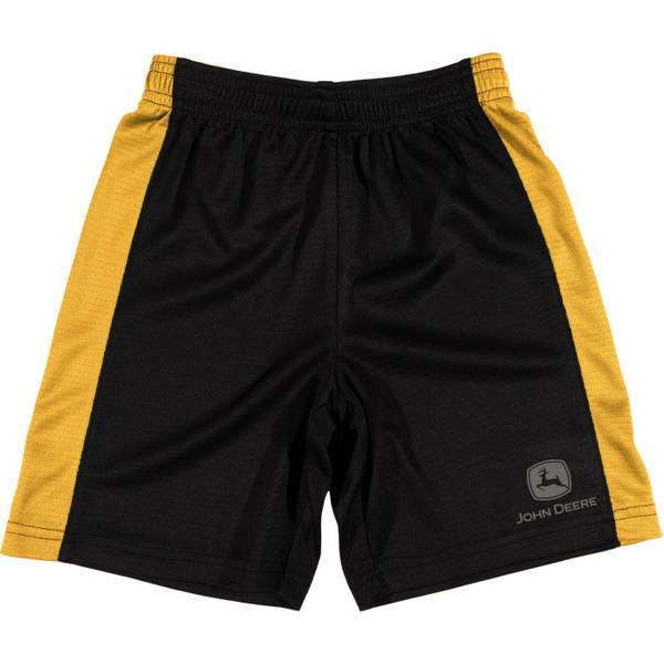 Little Boys' Yellow & Black Athletic Mesh Shorts