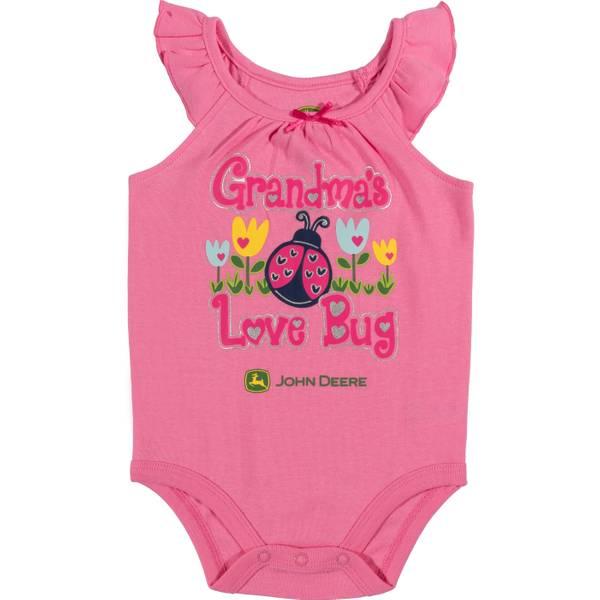 Girls' Pink Sleeveless Grandma's Love Bug Bodysuit