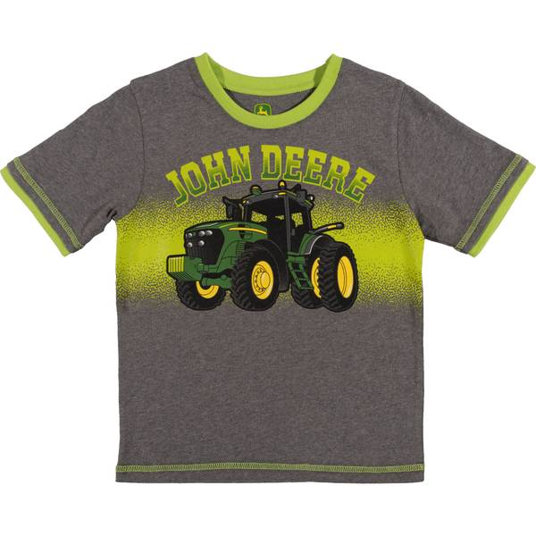 Little Boys' Grey & Lime Short Sleeve Tee Shirt