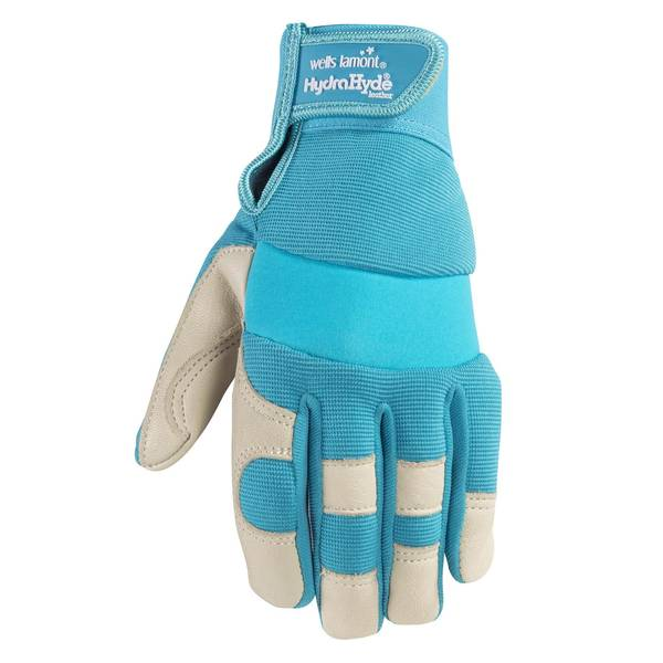 Women's Tan HydraHyde Spandex Back Leather Gloves