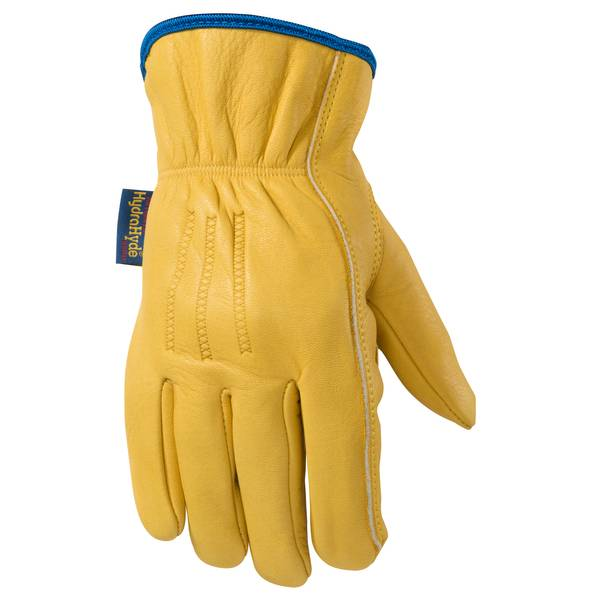 Men's Tan HydraHyde Ball & Tape Leather Gloves