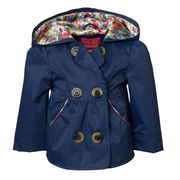 Girl's Ruffled Trench Coat