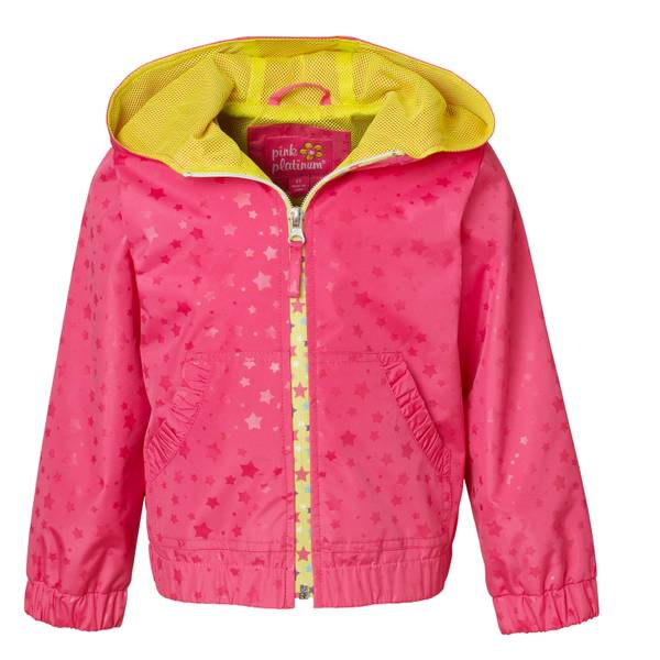 Girls' Pink Heat Stamp Jacket with Mesh Lining